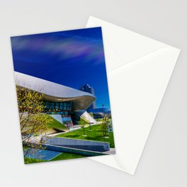 bavarian car manufacture museum Munich Stationery Cards