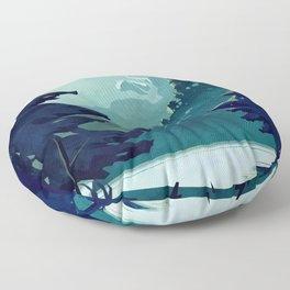 Canadian Mountain Floor Pillow