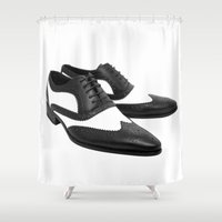 dress Shower Curtains featuring Dress Shoes by McGrathDesigns