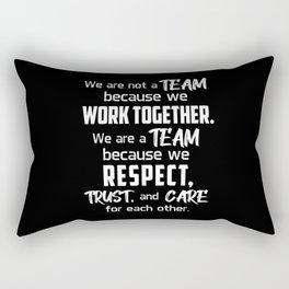 Team Work Job Awesome Spirit Team Player Gift Idea Rectangular Pillow