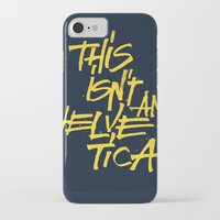 "lettering iPhone & iPod Cases featuring ""Helvetica"" Lettering by Sergi Ferrando"