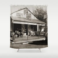 milk Shower Curtains featuring Milk Bar by SwanniePhotoArt