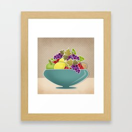 Picture . A bowl of fruit. Framed Art Print
