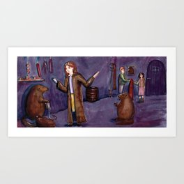 Stop packing, there's no time! Art Print