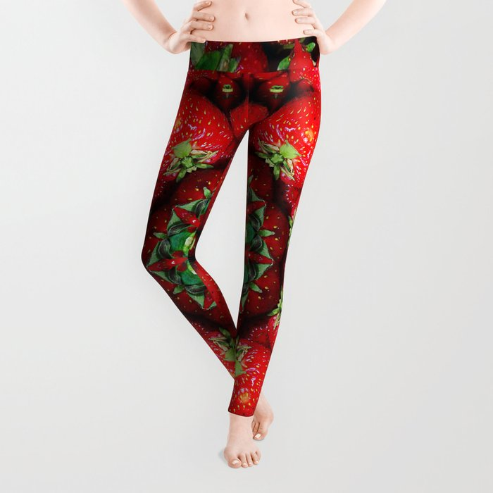 Strawberry season mandala k4 1157 Leggings