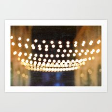 Floating Bokeh Art Print