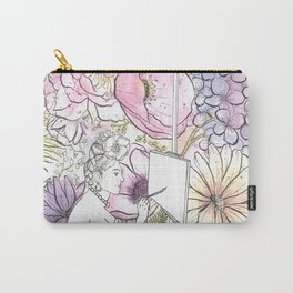 Open: Frida at her Easel (Color) Carry-All Pouch