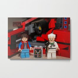 Where does the Flux Capacitor go? Metal Print