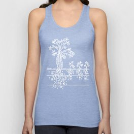 Strong Roots - White Black Unisex Tank Top