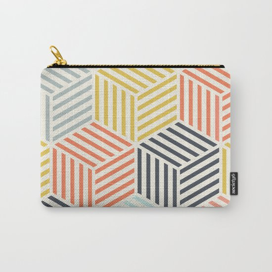 Colorful Geometric Carry-All Pouch