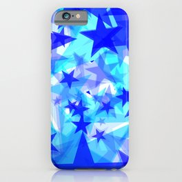 Glowing starfish on a light background in projection and with depth. iPhone Case