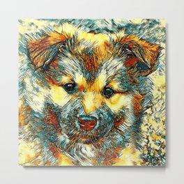 AnimalArt_Dog_20170903_by_JAMColorsSpecial Metal Print