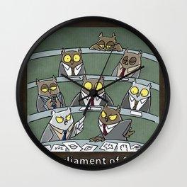 A PARLIAMENT OF OWLS Wall Clock