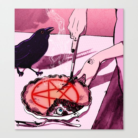Mrs.Crowley's Old Fashioned Cherry Pie, Digital Version. Canvas Print