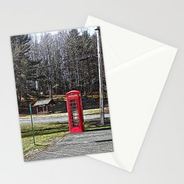 A Red Phone Booth in the Middle of  Nowhere Stationery Cards