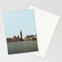 London, England Travel Artwork Stationery Cards