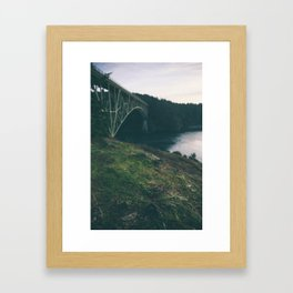 Deception Pass Bridge I Framed Art Print