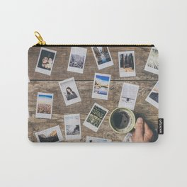 Photo prints on the table Carry-All Pouch