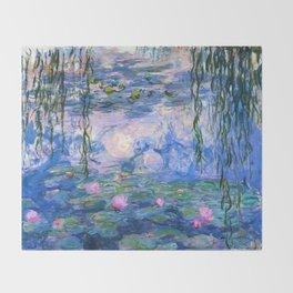 Water Lilies Monet Throw Blanket