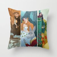 shakespeare Throw Pillows featuring Shakespeare by Supergna