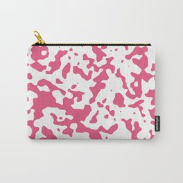 Spots - White and Dark Pink Carry-All Pouch
