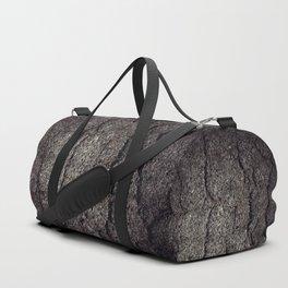 Cracked asphalt road Duffle Bag
