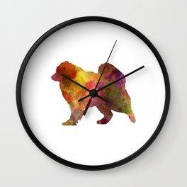 Samoyed in watercolor Wall Clock