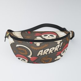 Pirate pattern. Fanny Pack