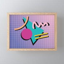 Memphis Pattern 10 - 90s - Retro Framed Mini Art Print