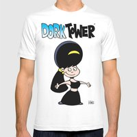 DORK TOWER - Gilly Mens Fitted Tee White MEDIUM