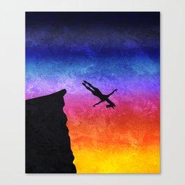 Cliff Dive Unicorn Canvas Print