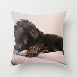 Sleepy Puppy Throw Pillow