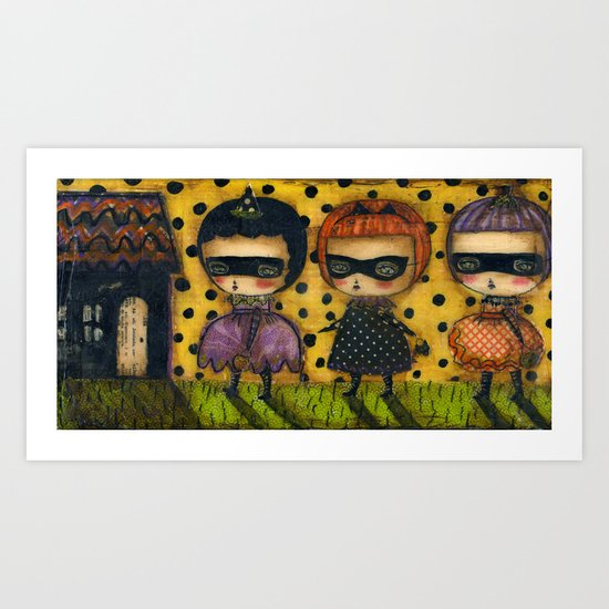 The Spooky Halloween House Art Print