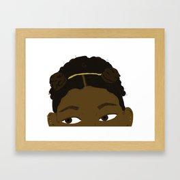 Peeping Game Framed Art Print