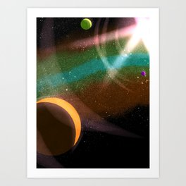 Some Inevitable Orbits Art Print