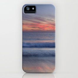 Magical Waves. Square.  Tarifa Beach At Red Sunset iPhone Case