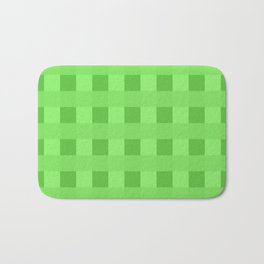 Lime Green Retro Squares Bath Mat
