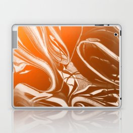 Copper Swirl - Copper, Bronze, gold and white metallic effect swirl pattern Laptop & iPad Skin