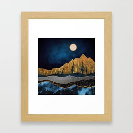 Midnight Desert Moon Framed Art Print