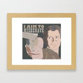 Malcolm Reynolds - I Aim To Misbehave Framed Art Print