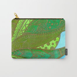 Gold leafed Carry-All Pouch