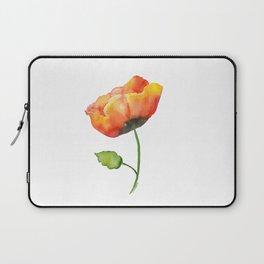 Poppy Watercolor Laptop Sleeve