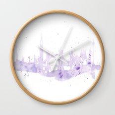 Watercolor landscape illustration_London Wall Clock