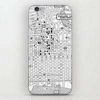 oakland iPhone & iPod Skins featuring Oakland  by Hollyce Jeffriess Designs