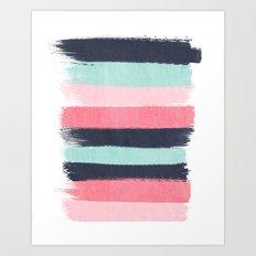Cecily - abstract paint brush strokes paintbrush brushstrokes boho chic trendy modern minimal  Art Print