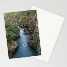 Alaska River Canyon - I Stationery Cards