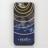 moon phases iPhone & iPod Skins featuring Moon Phases by rollerpimp