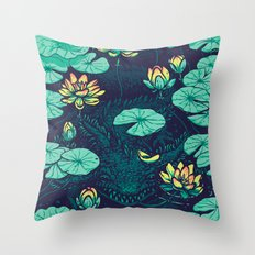 Lotus Eater Throw Pillow