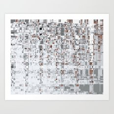 Abstract Architecture Grey Art Print