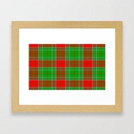 Christmas Lumberjack Plaid Framed Art Print